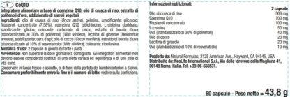 Eticheta flacon Coenzima Q10 marca Neolife