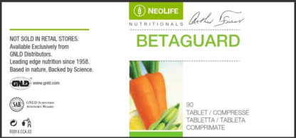 Eticheta produs Betaguard al firmei GNLD Neolife