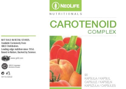 Eticheta produs Carotenoid Complex NeoLife