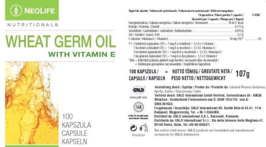 Eticheta produs Wheat Germ Oil GNLD NeoLife