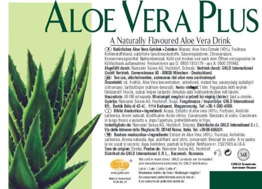 Eticheta Aloe Vera Plus NeoLife GNLD