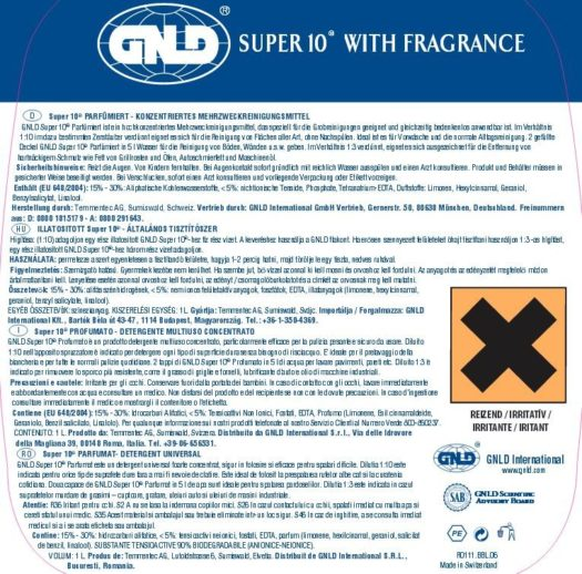 Eticheta produs Super 10 1L, GNLD Golden
