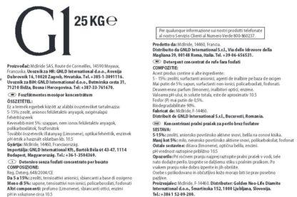 Eticheta detergent G1 25kg marca Golden GNLD