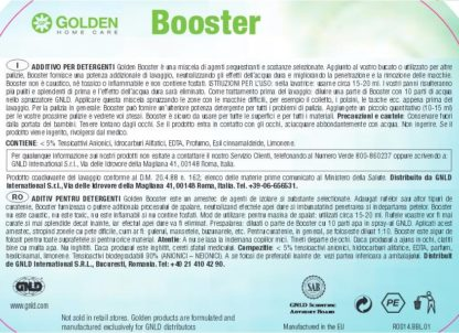 Eticheta produs Booster, marca Golden GNLD