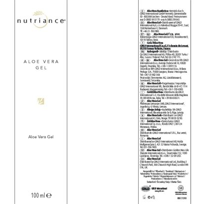 Eticheta produs Nutriance Aloe Vera Gel
