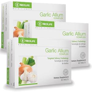 3 cutii de Garlic Allium Complex NeoLife GNLD