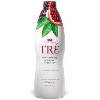 Sticla de produs numit TRE, esenta de super-fructe de la NeoLife GNLD